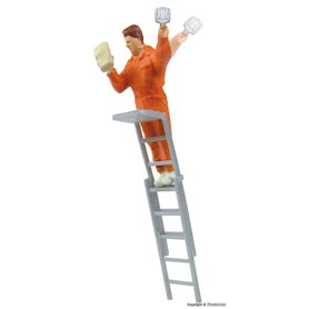Viessmann 1517 Poster sticker on a ladder, moving