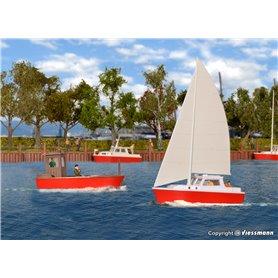 Kibri 39160 Båtar, 4 st