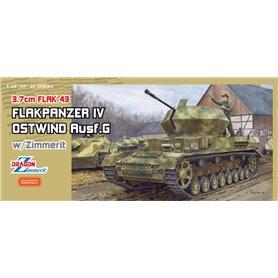 """Dragon 6746 FlaK 43 Flakpanzer IV """"Ostwind"""" with Zimmerit"""