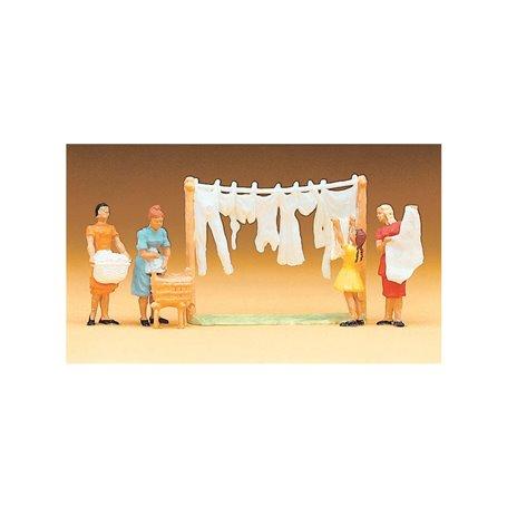 Preiser 14050 Kvinnor som hänger tvätt