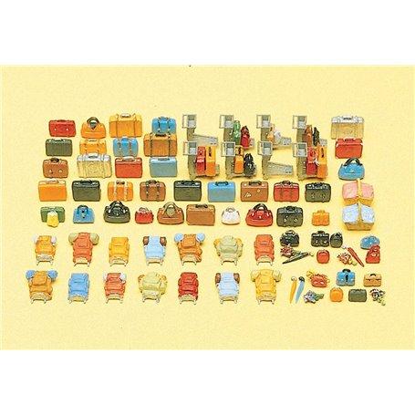Preiser 17005 Bagage-sats, 90 delar