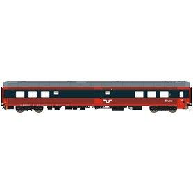 HNoll HN.1468AC Restaurangvagn SJ R4 5452 Röd/Mörkgrå UIC Märkning