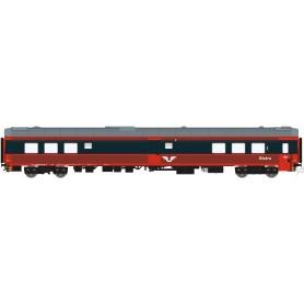 HNoll HN.1468DC Restaurangvagn SJ R4 5452 Röd/Mörkgrå UIC Märkning