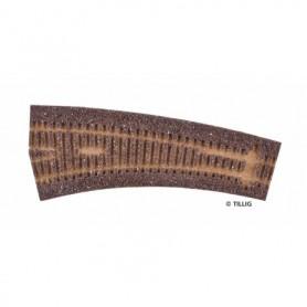 Tillig 86518 Rälsbädd mörkbrun Tillig Elite för vänsterväxel IBW 15