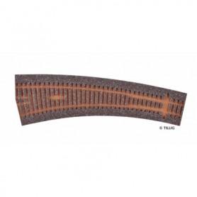 Tillig 86520 Rälsbädd mörkbrun Tillig Elite för vänsterväxel IBW 20,7 R778