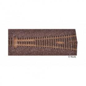 Tillig 86525 Rälsbädd mörkbrun Tillig Elite för Y-Växel ABW 15