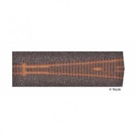 Tillig 86526 Rälsbädd mörkbrun Tillig Elite för Y-Växel ABW 12