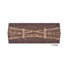 Tillig 86528 Rälsbädd mörkbrun Tillig Elite för Kryssväxel EKW 15
