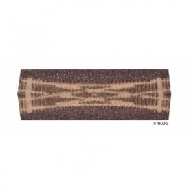 Tillig 86530 Rälsbädd mörkbrun Tillig Elite för Kryssväxel DKW II 15 R1050