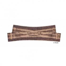 Tillig 86531 Rälsbädd mörkbrun Tillig Elite för Kryssväxel EKW II 15 R1050