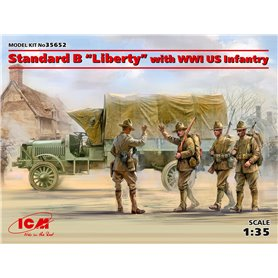 "ICM 35652 Standard B ""Liberty"" with WWI US infantry"