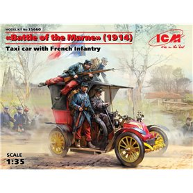 "ICM 35660 ""Battle of the Marne"" (1914), Taxi car with French Infantry"