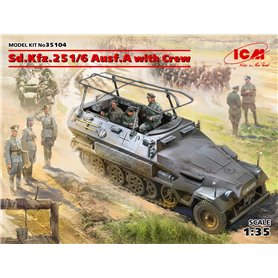 ICM 35104 Sd.Kfz.251/6 Ausf.A with Crew