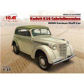 ICM 35483 Opel Kadett K38 Cabriolimousine WWII German Staff Car