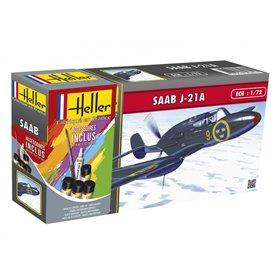 "Heller 56261 Flygplan SAAB J-21 ""Gift Set"""