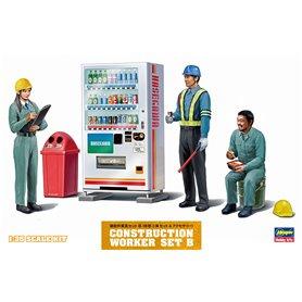 Hasegawa 66006 Construction Worker Set B, 3 figurer med tillbehör