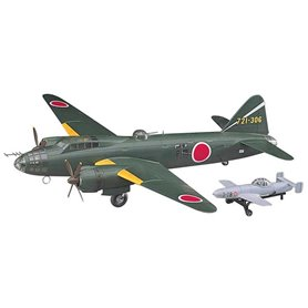 Hasegawa 00550 Flygplan Mitsubishi G4M2E Type 1 Attack Bomber (Betty) Model 24 Tei with MXY7 Ohka Model 11