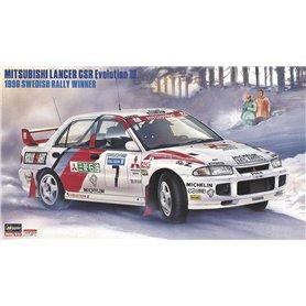 Hasegawa 20407 MITSUBISHI LANCER GSR Evolution III 1996 SWEDISH RALLY WINNER
