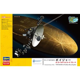 Hasegawa 52206 Unmanned Space Probe Voyager with Golden Record Plate
