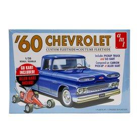 AMT 1063 Chevrolet Custom Fleetside Pickup 1960 + Go Kart