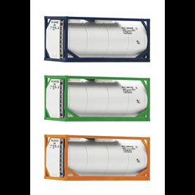 Fleischmann 910120 3 piece set: 20' tank containers