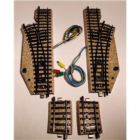 Märklin 5137 Växelpar elektromagnetiska, vänster och höger