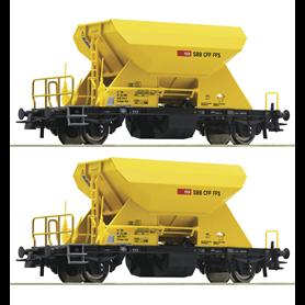 Roco 76154 Vagnsset med 2 grusvagnar typ SBB