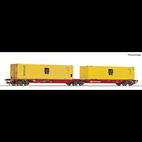 """Roco 76630 Dubbelvagn Sggmrs typ DB Schenker """"MSC"""""""