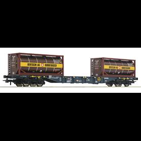 """Roco 76737 Flakvagn med last av tankcontainers """"CEMAT - Bertschi AG"""""""