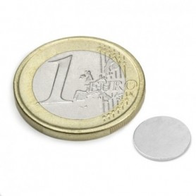 Magnet S-10-0.6-N Diskmagnet, diameter10mm, höjd0,6mm
