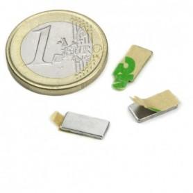 Magnet Q-10-05-01-STIC Block magnet self-adhesive 10x5x1mm