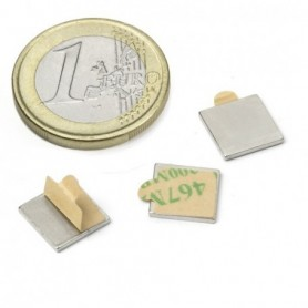 Magnet Q-10-10-01-STIC Block magnet self-adhesive 10x10x1mm