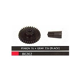Ninco 80202 Drev 33z + Pinion 7z för kart