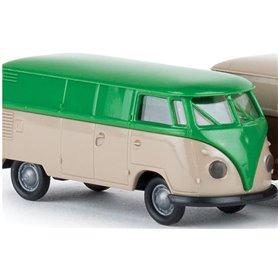 "Brekina 32630.1 VW Skåp T1b, ""Economy"", grön/grå"