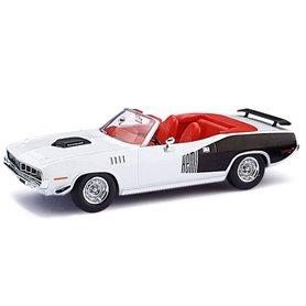 Ricko 38483 Plymouth Hemi Cuda 1971, Snow White, PC-Box