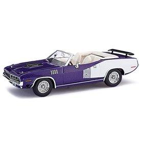 Ricko 38283 Plymouth Hemi Cuda 1971, Metallic-Violett, PC-Box