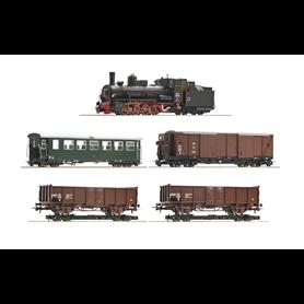 Roco 31032 Tågset 5-delat ånglok och 4 vagnar typ ÖBB