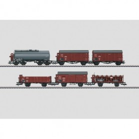 """Märklin 46094DEMO Godsvagnsset med 6 st olika vagnar typ DRB """"MHI Special 2010"""""""
