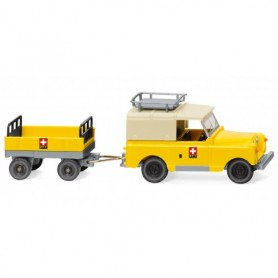 Wiking 10005 Land Rover with trailer 'PTT'
