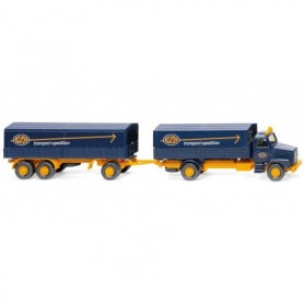 Wiking 43202 Flatbed road train (Volvo N12) 'ASG'