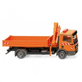 Wiking 67505 Flatbed truck w. loading crane (MAN TGL Euro 6) 'Municipal'