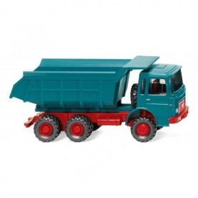 Wiking 86633 Tipper trailer (MAN) water blue