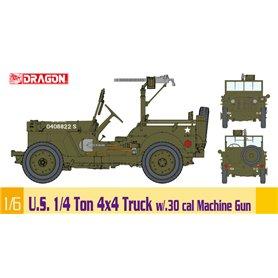 Dragon 75050 1/6 U.S. 1/4 Ton 4x4 Truck w/.30 cal Machine Gun