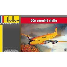 Heller 80330 Flygplan DC6 Securite Civile