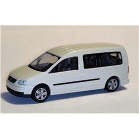 Rietze 11700 Volkswagen Caddy Maxi Bus 2007, krämvit