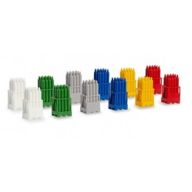 Herpa 054096 Gas cylinders with pallets, 2 x red | 2 x yellow | 2 x Grey | 2 x blue| 2 x White | 2 x green