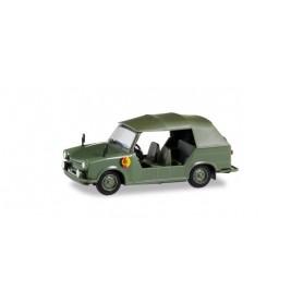 "Herpa 024440-002 Trabant Kübel ""NVA"", with green rims"