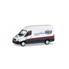 """Herpa 095105 Mercedes-Benz Sprinter box truck """"Spedition Diez'"""