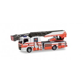 Herpa 095129 MAN TGS M turnable ladder truck 'Fire department Wolfsburg'