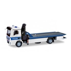 Herpa 095181 MAN TGM flatbed tow vehicle with crane 'Berlin Tactical units of the police'